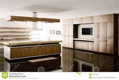 modern kitchen interior 3d rendering interior of kitchen 3d render stock photos image 11717363