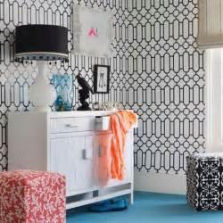 Bedroom Wallpaper Designs For Teenagers Graphic Print Wallpaper Bedroom Ideas Housetohome Co Uk
