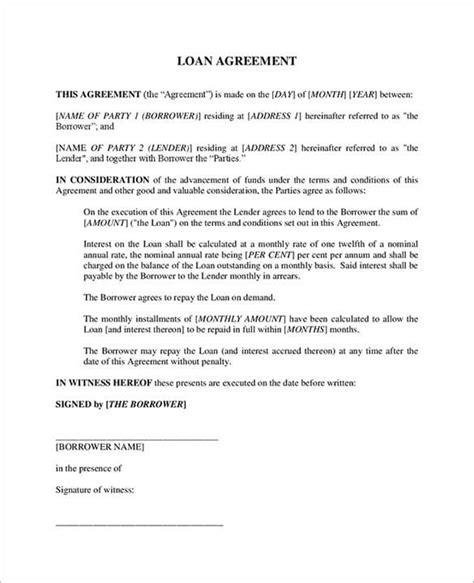 loan agreement template 11 free word pdf documents 20 loan agreement templates word excel pdf formats
