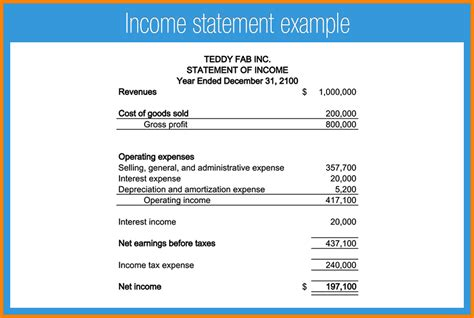 simple income statement template income and expense statement template calendar template