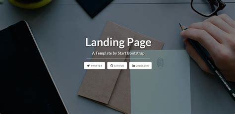 free responsive html landing page templates 2017