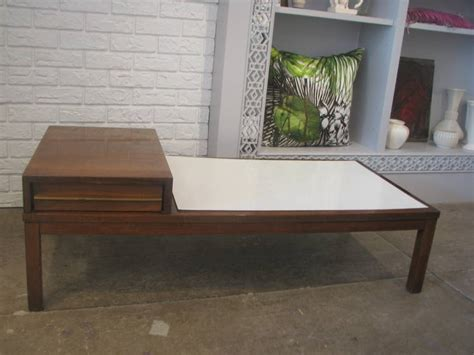 Mid Century Coffee Table With White Laminate Top For Sale White Laminate Coffee Table