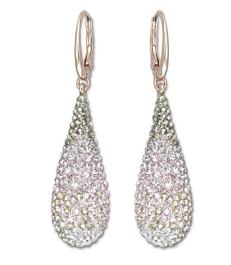 swarovski abstract pierced earrings