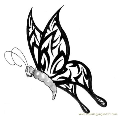 free butterfly tattoo designs butterfly design5 coloring page free printable