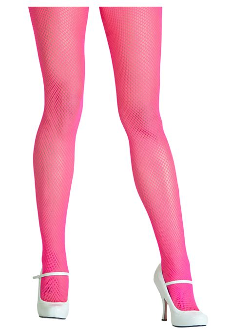 tights pink neon pink fishnet tights
