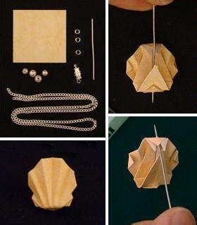How To Make A Paper Shell - origami shell necklace