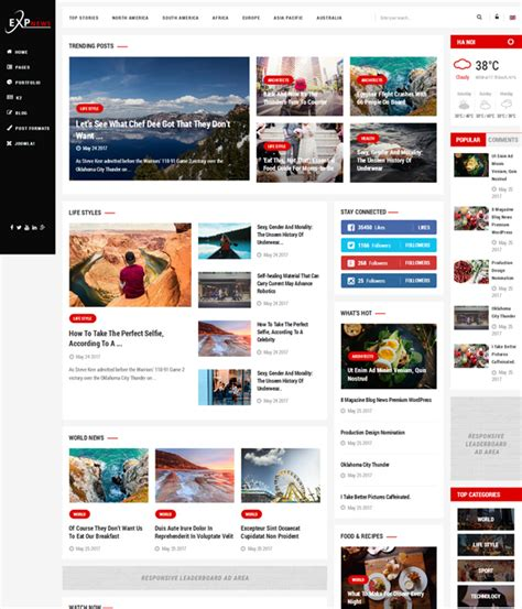 Premium Joomla 3 Templates by Top 10 Awesome Free Premium News Magazine Joomla 3 7