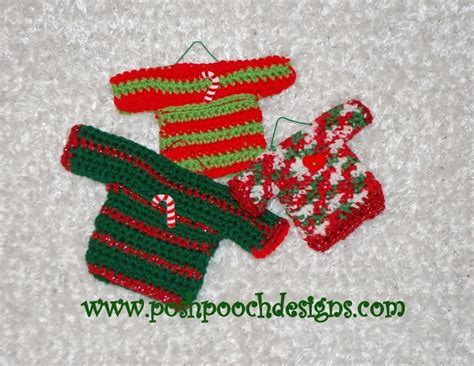 crochet pattern ugly christmas sweater posh pooch designs dog clothes mini sweater ornaments
