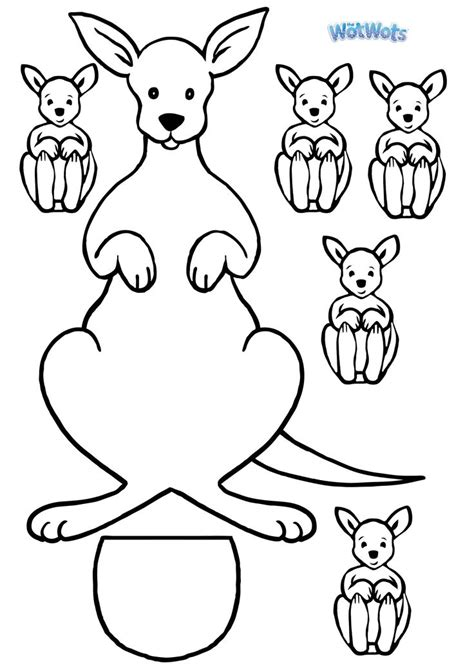 printable kangaroo template kangaroo template logo jpg 2480 215 3508 arts and crafts