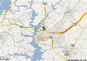 of carolina cus map clemson sc map