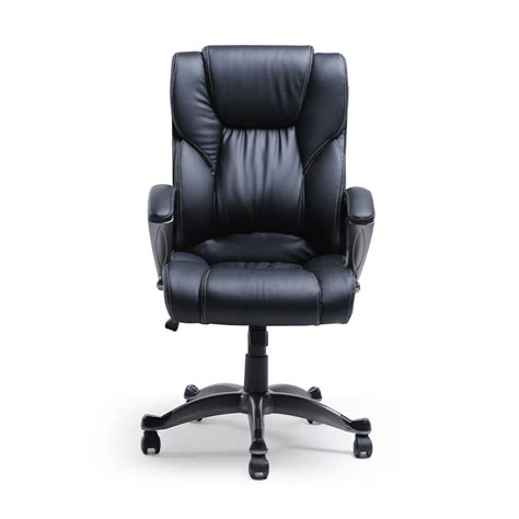 pu black leather ergonomic high  executive computer desk task office chair ebay