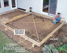 Framing A Patio by Stone Deck On Pinterest Building A Deck Portable