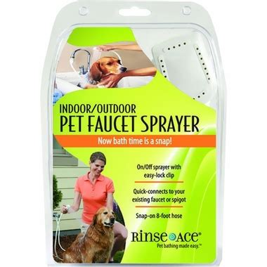 Rinse Ace Pet Shower by Rinse Ace 174 Indoor Outdoor Pet Faucet Sprayer Entirelypets