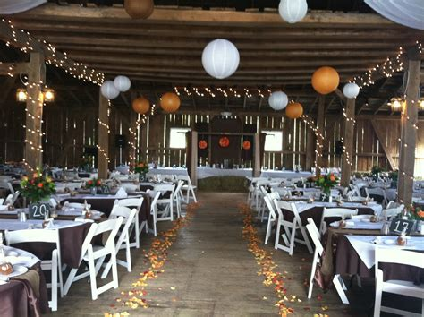 Wedding Ceremony Reception by Thoughts Of A Wedding Dj Rustic Barn Reception In Mchenry Md