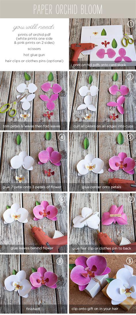 printable paper orchid atelier cherry orqu 237 dea linda e de papel