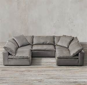 restoration hardware cloud sectional cloud cube modular leather sectionals restoration