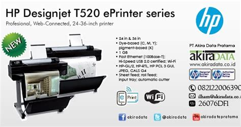 Harga Tinta Printer Bergaransi by Jual Plotter Hp Designjet T520 Eprinter 24 In A1 Jual