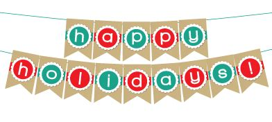happy holidays banner google search holiday banner happy holidays  christmas printables