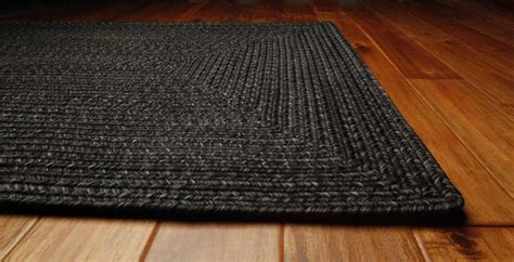 braided floor rugs homespice decor ultra durable braided rectangular black area rug black