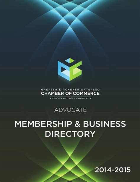 Kitchener Waterloo Business Directory by 2014 Membership Business Directory By David Tubbs