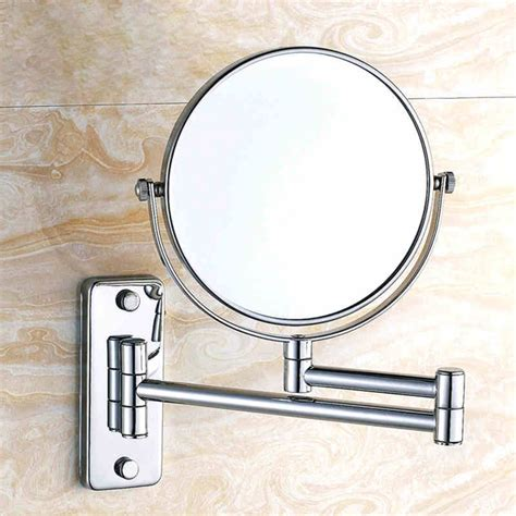 bathroom magnifying mirror wall mounted 8 inch double sides wall mounted mirror makeup 10x