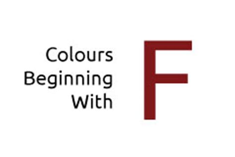 colors that start with f colours beginning with the letter f media