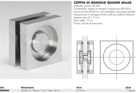 maniglie per porte in vetro maniglia maq60 174 quadra 60 incasso inox per porte in vetro