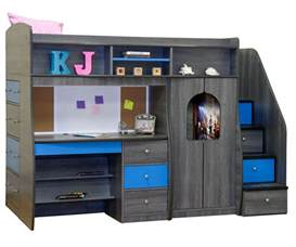 berg furniture play and study size loft bed