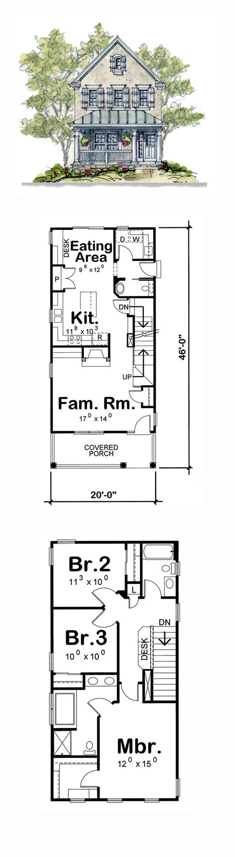 narrow lot floor plans narrow house plans two story small plan storey lot