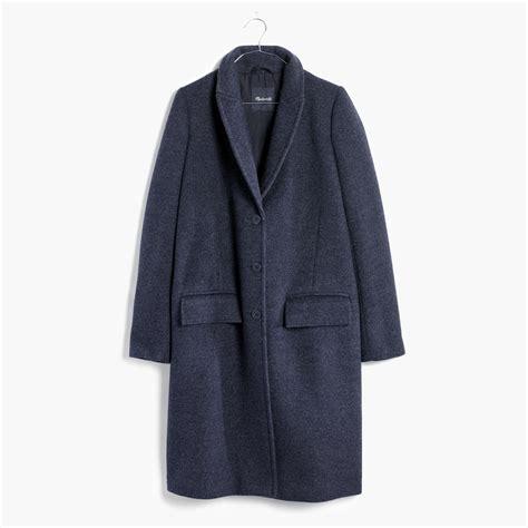 grey swing coat madewell teatro swing coat in heather grey in blue lyst