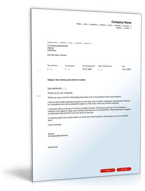 Musterbrief Englisch Geschäftsbrief Dankschreiben F 252 R Gastfreundschaft Englisch Musterbrief Zum
