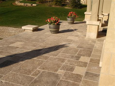 Cut Flagstone Patio by Gallery Landscaping Masonry Projects