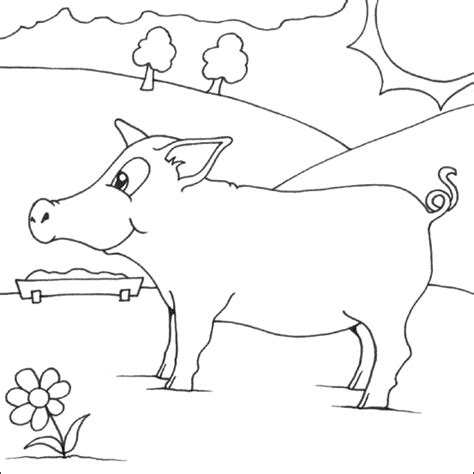 simple pig coloring page coloring pages of pigs best coloring pages collections