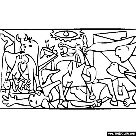 picasso coloring pages pablo picasso guernica coloring paintings