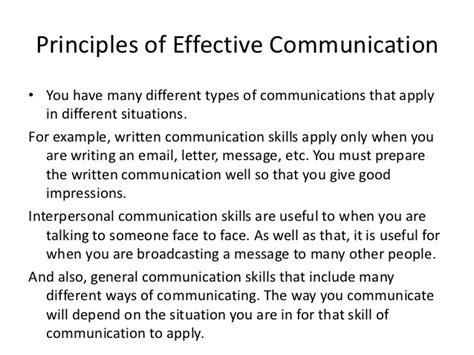 what to write in communication skills in a resume power point and principles of effective communication