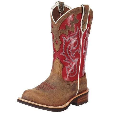 ariat womens cowboy boots ariat western boots womens unbridled leather cowboy powder