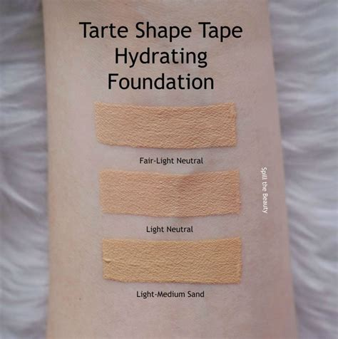 tarte shape tape concealer in light neutral tarte shape tape foundation review swatches before after