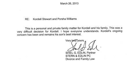 Divorce Sympathy Letter Update Kordell Stewart Releases Statement On His Divorce Filing