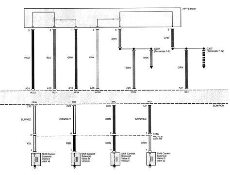 acura tl 2009 wiring diagrams transmission controls