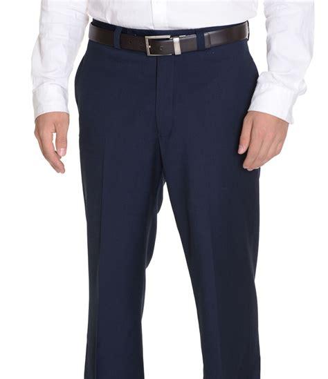 dress pants shop for mens dress pants and apparel ralph lauren mens regular fit solid navy blue flat front