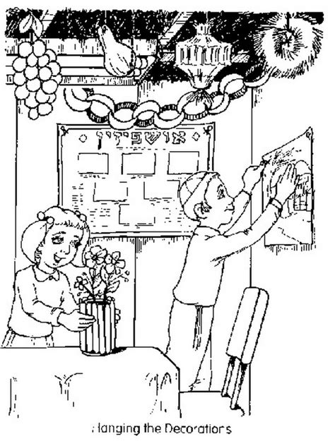 Sukkot Free Jewish Coloring Pages For Kids Family Sukkah Coloring Pages