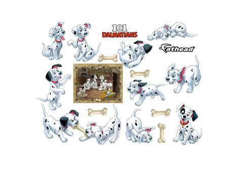 Disney S 101 Dalmatians 101 dalmatians puppy collection wall decal shop fathead