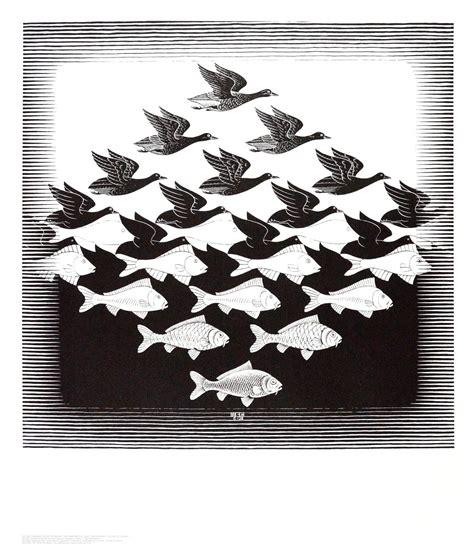 Kunstdrucke Bestellen by Mc Escher Luft Und Wasser Poster Kunstdruck Bei