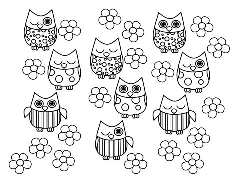 coloring pages cute owls cute owl coloring pages coloring home