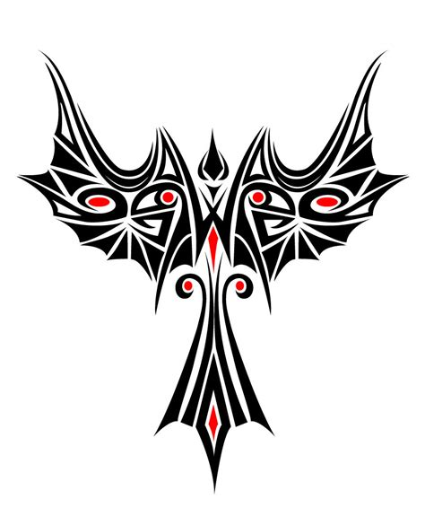 phoenix bird tribal tattoo beautiful tribal vector