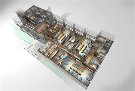 3d Floor Plan Rendering by Nursing School Floor Plan 3d Rendering