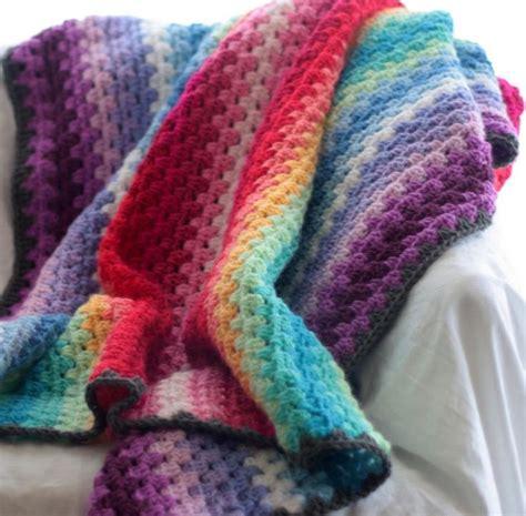 crochet granny stripe afghan images