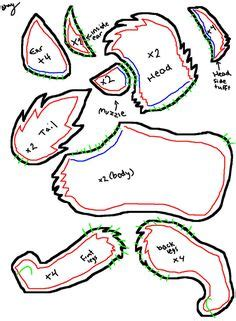 wolf puppet template plush template wolf pillows softies some to make