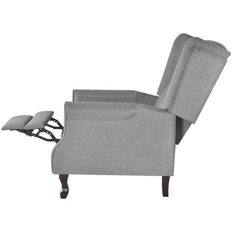 poltrona regolabile poltrona tv in tessuto grigio regolabile reclinabile