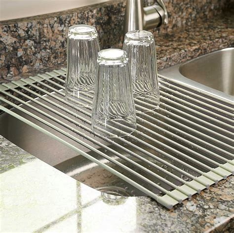 over the sink dish drainer rack multipurpose kitchen